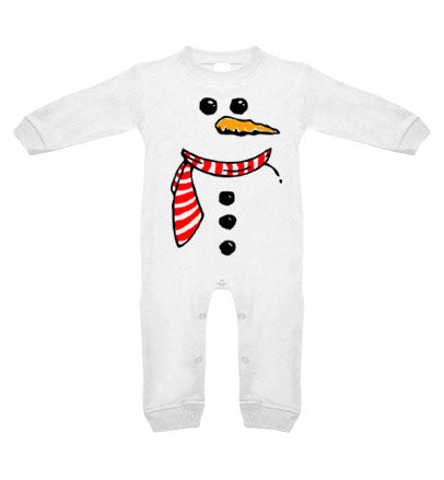 Snowman Long Sleeve Romper