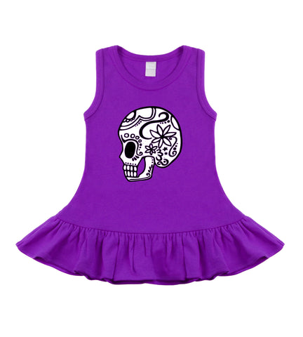 Sugar Skull Purple Sleeveless Dress