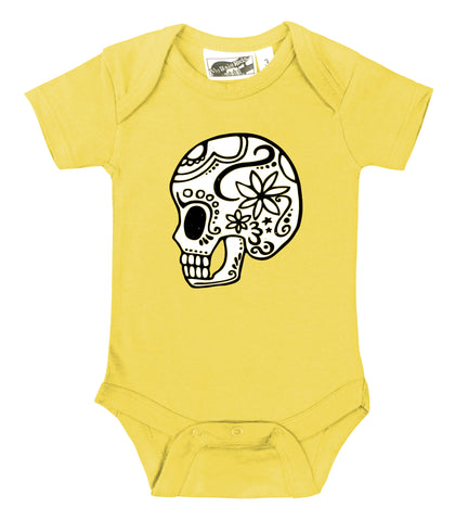 Sugar Skull Yellow One Piece