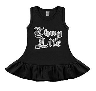 Thug Life Black Sleeveless Dress