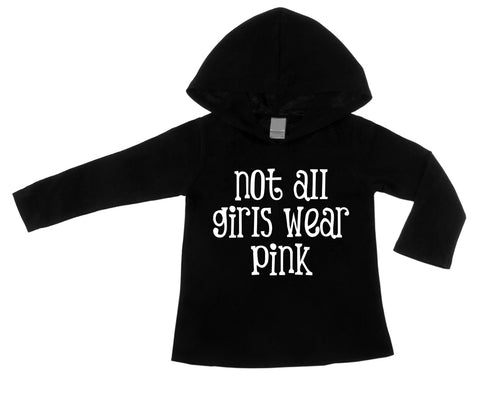 Not All Girls Wear Pink - Black Lightweight Pullover Hoodie