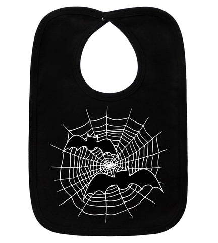 Spider Web Black Bib