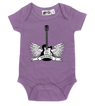 Winged Guitar Rock N Roll Lavender One Piece