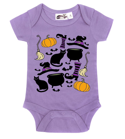 Witchy Things Halloween Lavender One Piece