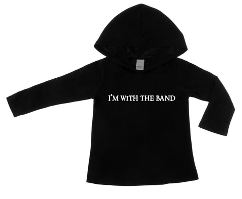 I'm With The Band Black Lightweight Pullover Hoodie