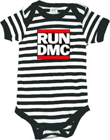 Run DMC Black & White Stripe One Piece