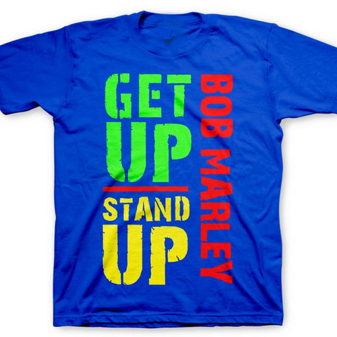 Bob Marley Get Up Stand Up Blue T-shirt