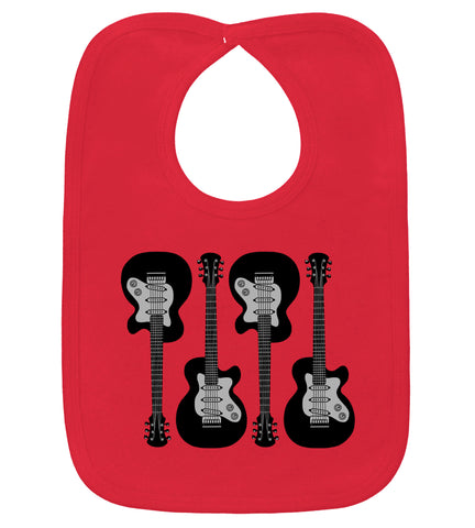 4 Guitars Red Bib