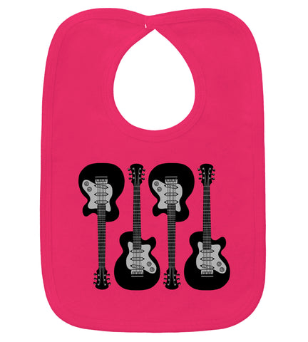 4 Guitars Hot Pink Bib