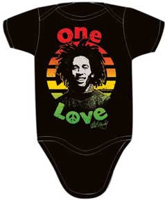 Bob Marley Peace Black One Piece