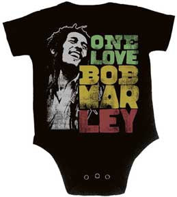 One Love Smile Bob Marley Black One Piece