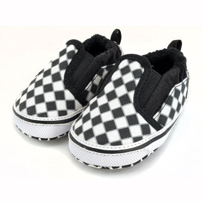 Checker Slip On Shoes : Black / White