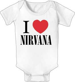 I Love Nirvana White One Piece