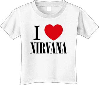 I Love Nirvana White T-shirt