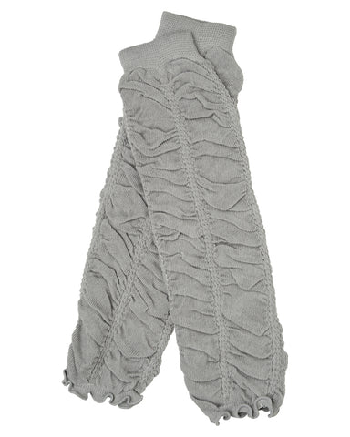 Gray Rouched Ruffle Leg Warmers