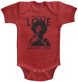Jimi Hendrix Message To Love Red One Piece