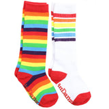 Rainbow Stripe Socks and Rainbow Tube Socks 2 Pack Gift Set