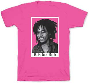 Bob Marley B is For Bob Toddler Tee : Pink