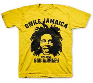 Bob Marley Smile Jamaica Yellow T-shirt