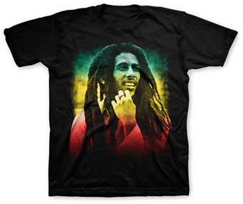 Bob Marley Smile Black Toddler T-shirt