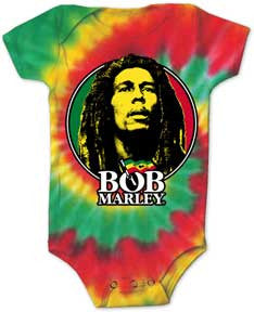 Bob Marley Tie Dye Circle Logo One Piece
