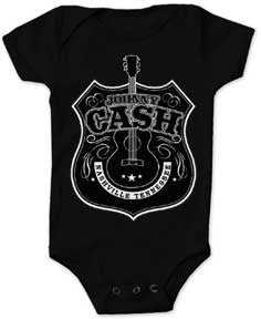 Johnny Cash Guitar Shield Black One Piece