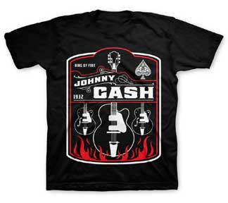Johnny Cash Ring of Guitars T-shirt