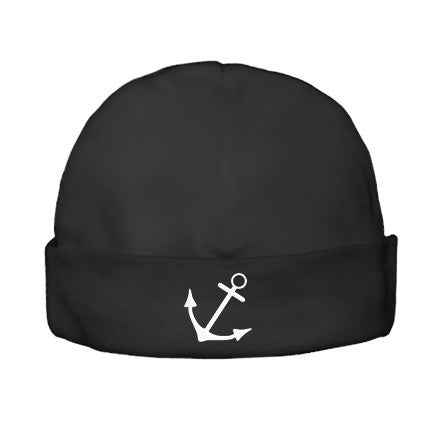 Anchor Black Beanie