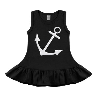 Anchor Black Sleeveless Dress