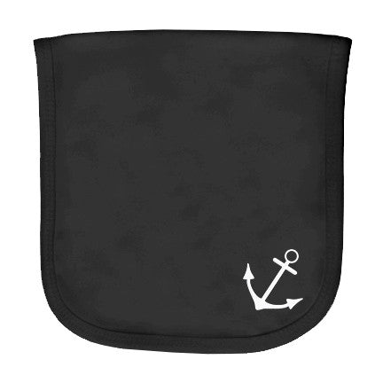 Anchor Black Burp Cloth