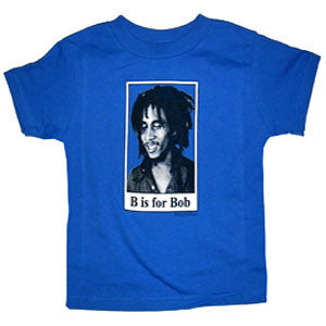 Bob Marley B is For Bob Toddler Tee : Blue