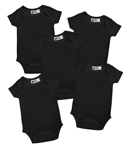 Blank Black One Piece 5 Pack