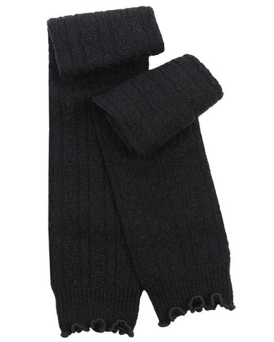 Black Cable Knit Leg Warmers