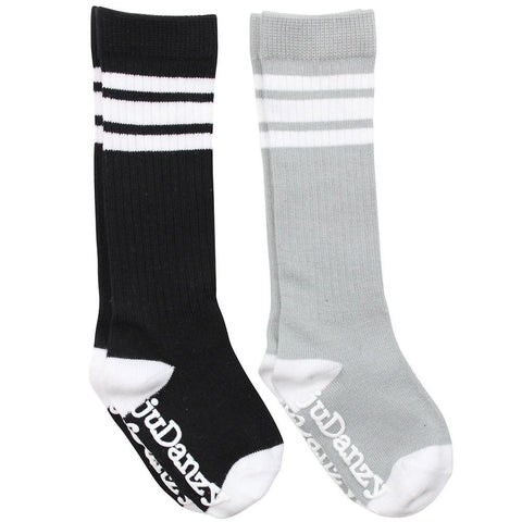 Black & Gray Tube Socks 2 Pack Gift Set