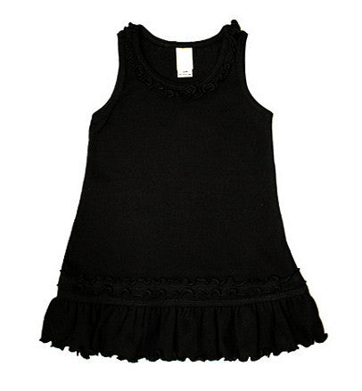 Black Tank Top Ruffle Dress