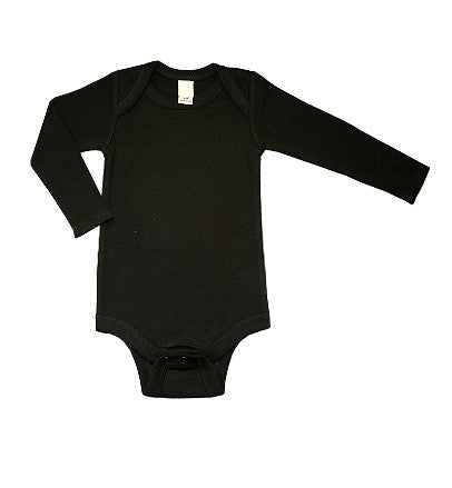 Blank Black Long Sleeve One Piece