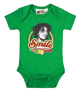 Bob Marley Green Smile Jamaica One Piece