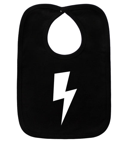 Lightning Bolt Black Bib