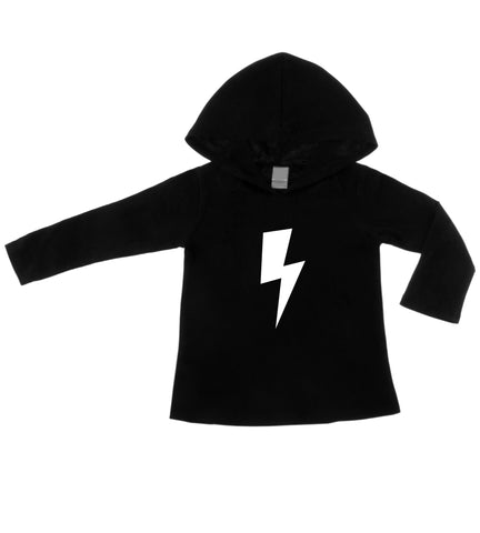 Lightning Bolt Black Lightweight Pullover Hoodie