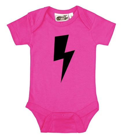 Lightning Bolt Hot Pink & Black One Piece