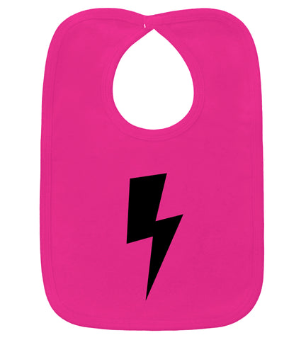 Lightning Bolt Hot Pink Bib