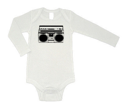 BOOMbox Long Sleeve White One Piece