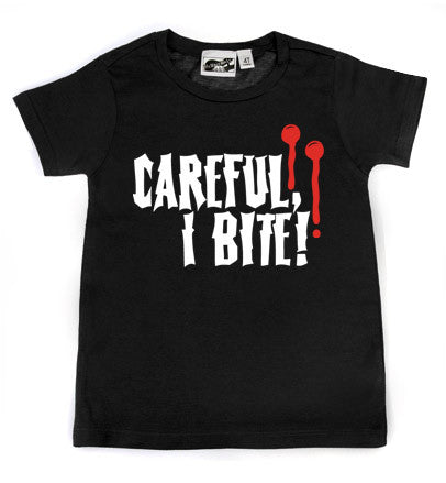 Careful, I Bite Vampire T-shirt