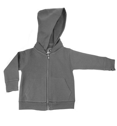 Charcoal Gray Signature Zip Up Hoodie w/ Detachable Hood
