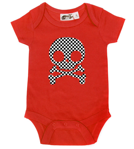 Checker Skull Red One Piece