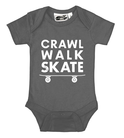 Crawl Walk Skate Charcoal Gray One Piece