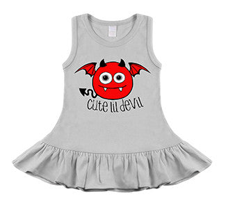 Cute Lil Devil White Sleeveless Dress