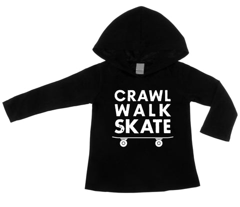 Crawl Walk Skate Black Lightweight Pullover Hoodie