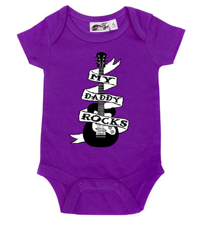 Daddy Rocks Guitar Tattoo Purple One Piece