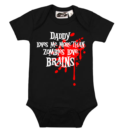 Daddy Loves Me Zombie Blood Splat One Piece